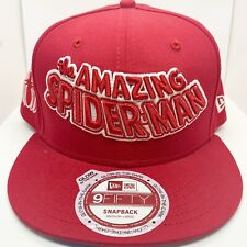 New Era The Amazing Spiderman 100% Authentic Adjustable Snapback Color Red
