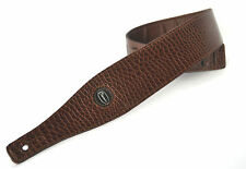 GUITAR STRAP ELECTRIC ACOUSTIC BROWN CROCODILE LEATHER EFFECT CLEARANCE PRICE