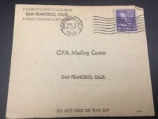 3-Cent Purple THOMAS JEFFERSON Stamp (1943) & SF CA World War Ration Application