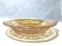 Vintage Indiana Gold Carnival Glass Killarney Divided Relish Candy Handled Dish