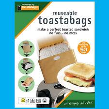 4x 50 Zeiten Wiederverwendbar Toastabags ohne Unordnung Toaster Tostie Sandwich