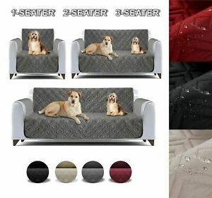 Quilted Sofa Anti Slip Cover Waterproof Furniture Pet Protector Throw