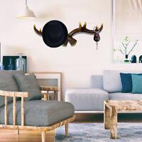 Deer Coat Hooks Reindeer Stag Hat Keys Holder Antlers Wall Hanging Rack  !!