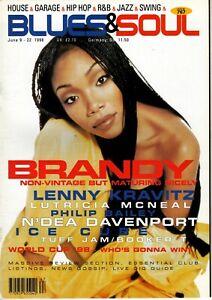 Blues & Soul Magazine 1998    Brandy    Lenny Kravitz   Philip Bailey   Ice Cube