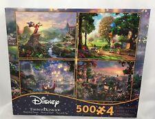Disney Dreams Jigsaw Puzzle 4-in-1 Collection Set Kids 500-Pieces Thomas Kinkade