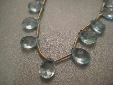 Blue Topaz Faceted Briolette Beads 19pcs