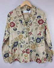 Alfred Dunner Size 12 Embroidered Floral Pattern Jacket