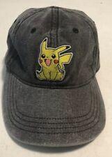 Pikachu Pokemon Gray Hat Cap Cartoon Hat Cap c32