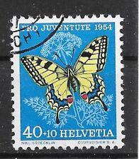 SCHWEIZ/ Pro Juventute 1954-Schmetterlinge MiNr 606 o