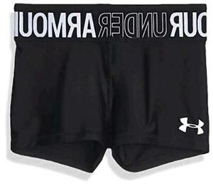Under Armour Heatgear Armour shorty,, Black (001)/White, Size Youth X-Large KMOz