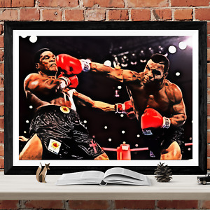 Mike Tyson Boxing Poster Art Picture Print