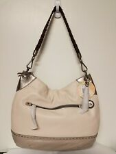 The Sak Indio Large LEATHER Hobo Handbag in SHADOW SPARKLE BLOCK $179 MSRP-NWT