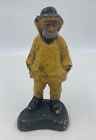 Antique Cast Iron Fisherman Figure Doorstop Salt Sea Maritime Figure