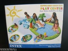 Intex Inflatable Pool~Hippo & Coco Fun Play Center~4 Water Activities~Nib