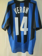 Inter Milan 2004-2005 Veron 14 Home Football Shirt Large /34607