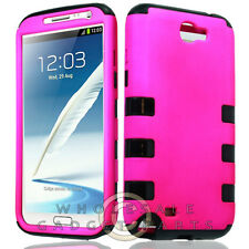 Samsung N7100 Galaxy Note 2 Hybrid Case-Hot Pink Case Cover Shield Shell