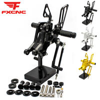 For Ducati M 696 796 1100 CNC Rearset Footrest Footpegs Brake Lever Pedal Shift
