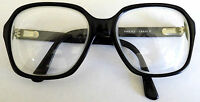 HUDSON Clear Glasses Readers Thick France RARE Heavy Black Frames Clear Lenses