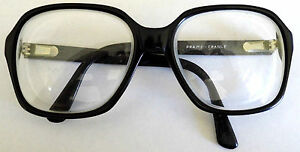 HUDSON Clear Glasses Readers Thick France RARE Heavy Black Frames Clear Lenses