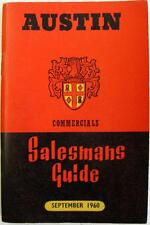 AUSTIN Commercials Salesmans Guide Original Brochure Sep 1960 #1170/J