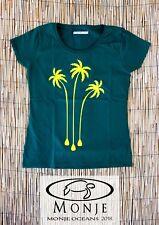 MonjeOceans Camiseta T-shirt Malibú Padde Surf Mujer Woman Verde Green Talla L