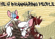 "45x32cm Death NYC Limited Ed LARGE Signed Graffiti Pop Art Print ""Brain wash 1"""