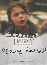 "The Hobbit Battle of the Five Armies - MN Mary Nesbitt ""Tilda"" Autograph Card"