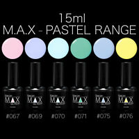 MAX 15ml Nail Art Soak Off UV LED Lamp Gel Nail Polish - Pastel Range