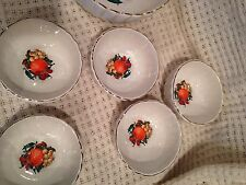 Lot of 5 Hand Painted LOUCARTE PORTUGAL Serving/Soup Bowls~Scalloped Edge~New