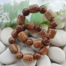 Amazing Leopard Skin Indonesian Exotic Coconut Wood Bracelets 17 Mm