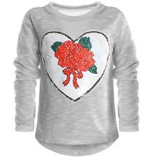 116 Langarm Mädchen-T-Shirts & -Tops mit Blumenmuster in Größe