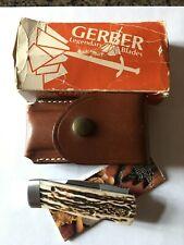 Vintage Gerber Bench Mark Pocket Knife~  Rolox Viper ~ Original Box and Paper