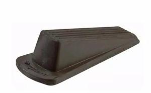 Brown Rubber Heavy Duty Door Stop Floor Wedge Strong Stopper Indoor Outdoor Nice