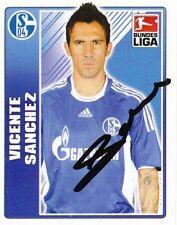 Vicente Sanchez  FC Schalke 04 Topps Sticker 2009/10 signiert 402640