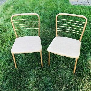 Set of 2 Vintage Cosco Hamilton Mid Century Metal Gate Leg Folding Chairs