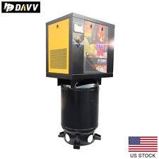 55hp 1 Phase Rotary Screw Air Compressor 16cfm175psi With 60 Gallon Asme Tank