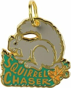 Primitives by Kathy Enamel Pet / Dog Collar Charm — Squirrel Chaser Authentic