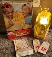RARE 1971 Vintage JUNIOR CHEF SEE IT POP CORN POPPER Works!