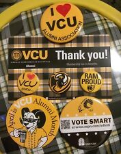 VCU Rams Basketball Lot of 6 Buttons VCU Alumni Set Plus 4 Schedule Magnets