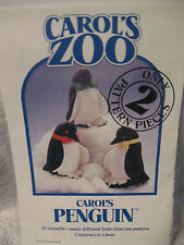 Carols Zoo 2 pattern pieces Carol's Pengun Family Versatile Sewing Crafts __B10