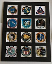 """Apollo Missions Patch Picture 14"""" X 11"""" Free Postage Moon Landings NASA"""