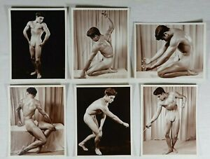 Western Photography Guild, Vintage Set of Male Nude Prints, Don Whitman, Sepia