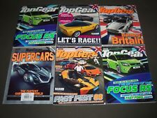 2008-2009 TOP GEAR MAGAZINE LOT OF 9 - GREAT COVERS & CAR PHOTOS - PB 81