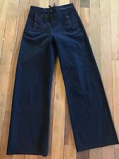 VTG WW2 WWII US Navy Blue Wool Uniform Dress Pants 30 x 31.5 Sailor Cracker Jack