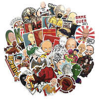 50Pcs Anime One Punch Man Skateboard Stickers Suitcase Luggage Decals