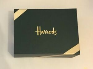 HARRODS GIFT BOX NEW UNOPENED 25cm x 18cm x 8.5cm With Tissue Paper + Ribbon