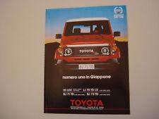 advertising Pubblicità 1988 TOYOTA BJ 73 TD