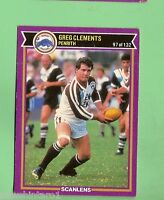 1987  PENRITH PANTHERS  SCANLENS   RUGBY LEAGUE CARD #97  GREG CLEMENTS