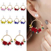 Women  Flower Ear Stud Earring Fashion Jewelry girl Pearl Earrings