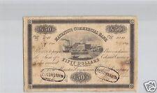 MAURITIUS ISOLA MAURICE 50 DOLLARI 5.5.1840 PICK S 126 RARO